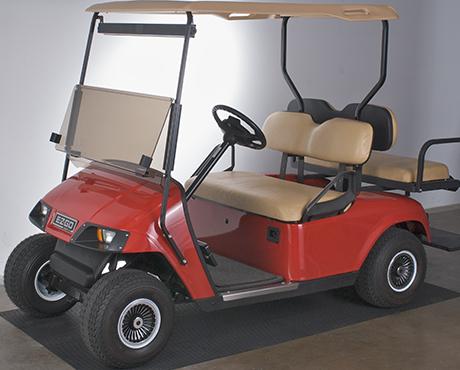 Golf cart carpet and rubber mats for Golf cart garage door dimensions